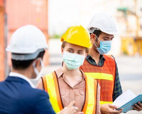 employer worker mask