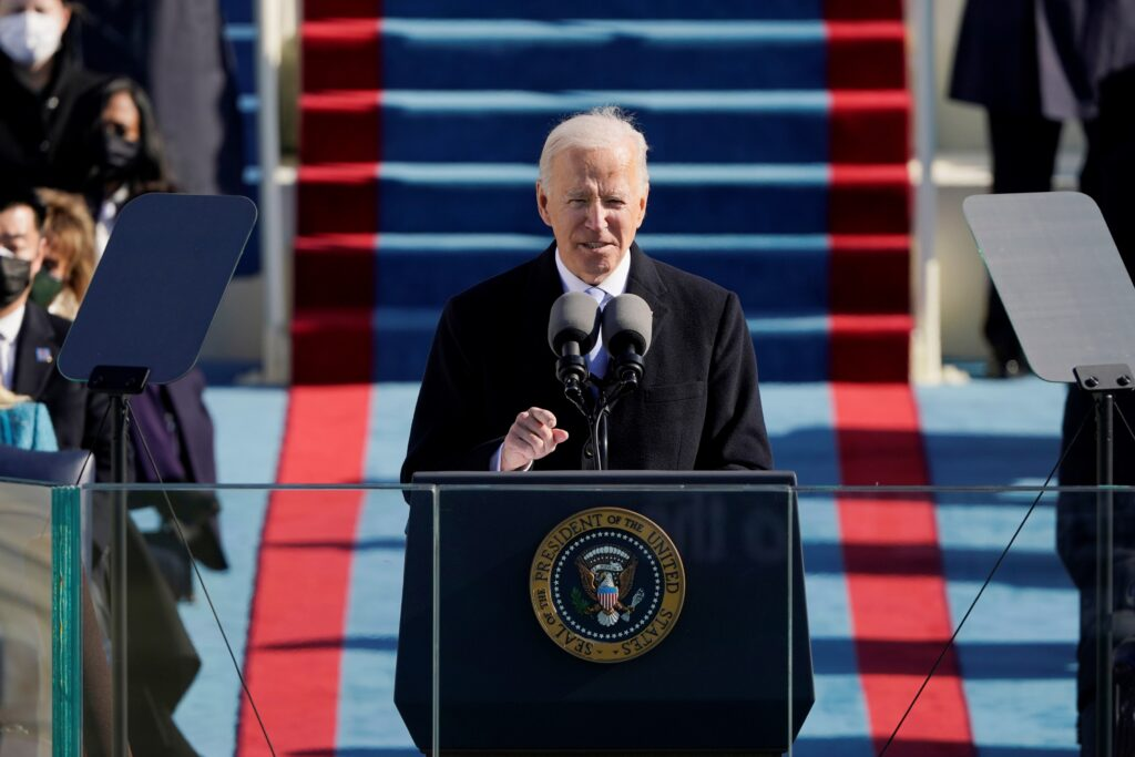 Inauguration of Biden as 46th President of United States
