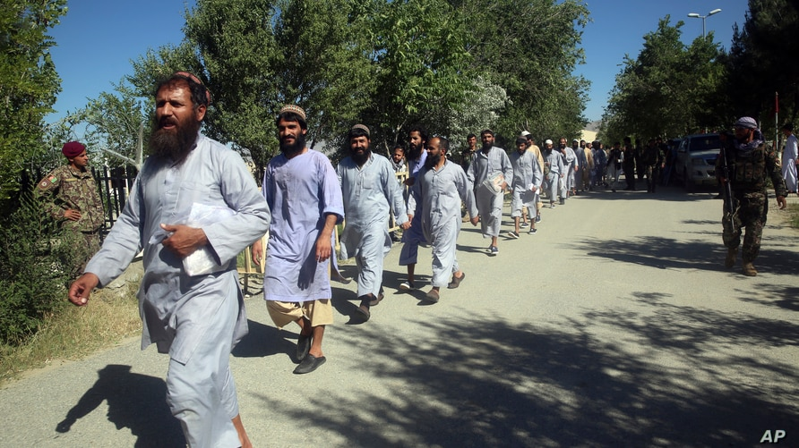 Prisoners are released from Bagram Prison in Parwan province, Afghanistan