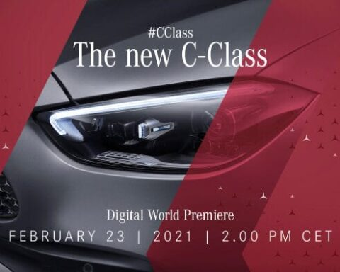 new C-Class on Mercedes