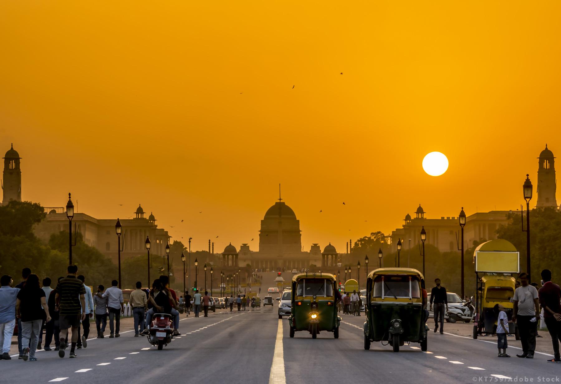 Sunset nearby the Presidential Residence, Rashtrapati Bhavan, Ne