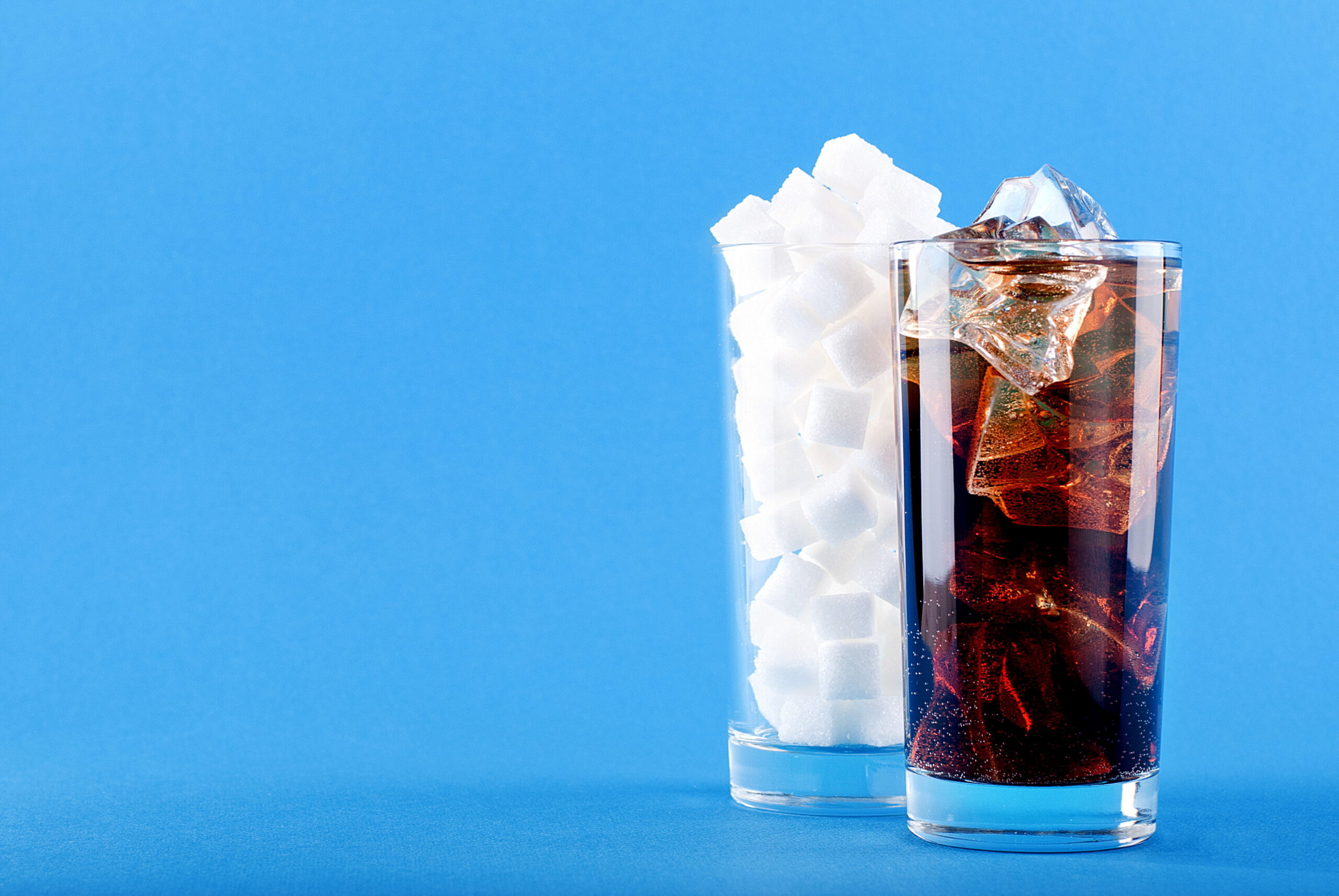 Glass, Off Soda, Water, And, Sugar