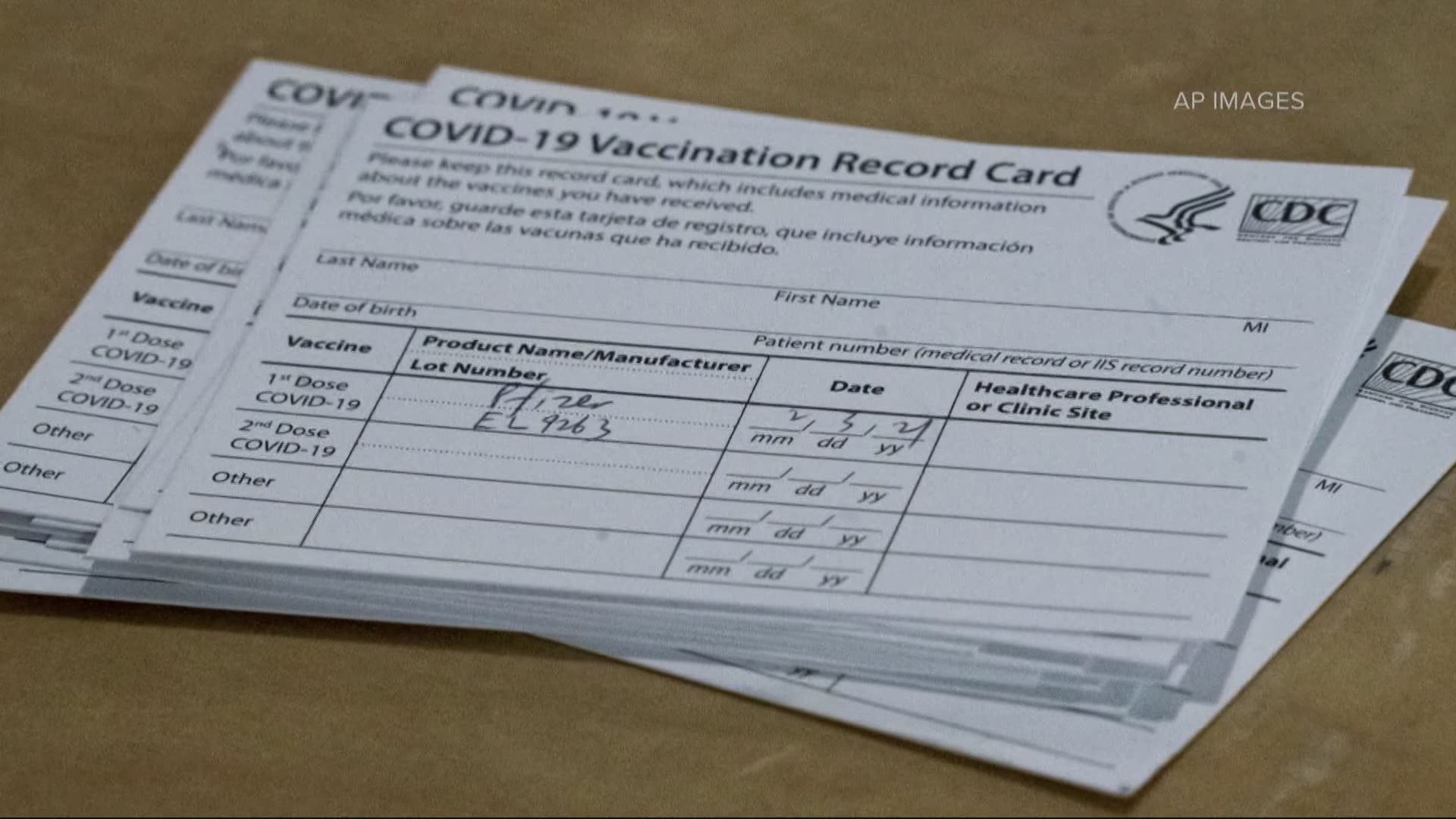 Your vaccination card