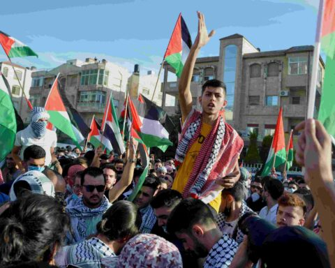Protest to express solidarity with the Palestinian people, in Amman