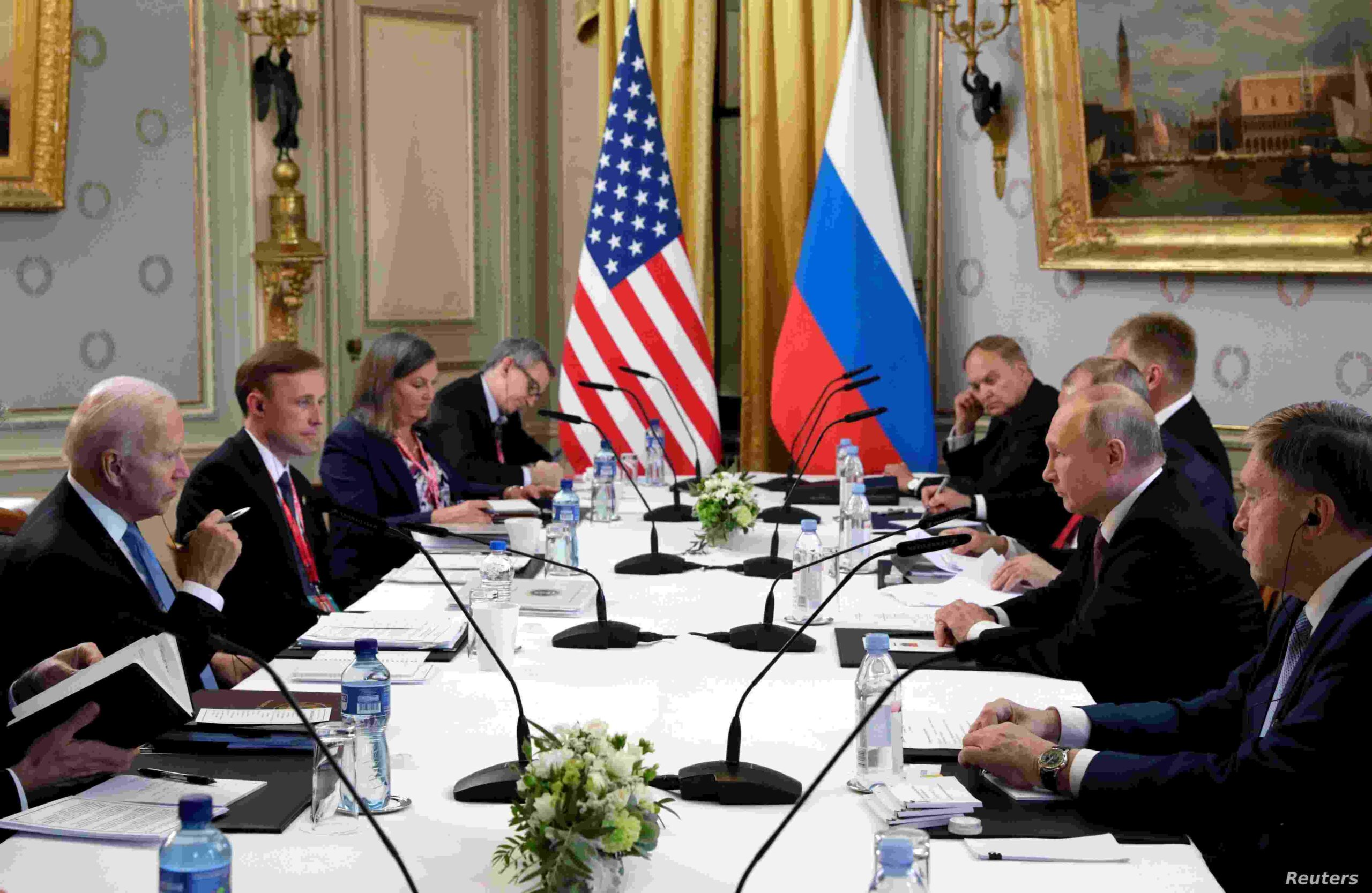 U.S. President Joe Biden and Russia's President Vladimir Putin