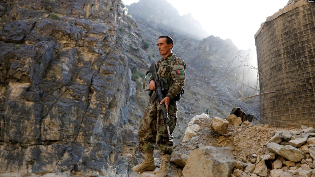 Afghan government soldier