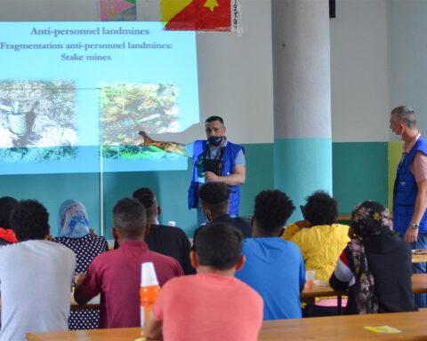 mine awareness sessions Migrants